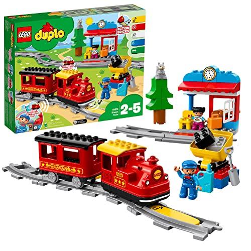 LEGO 10874 DUPLO Dampfeisenbahn, Spielzeugeis...