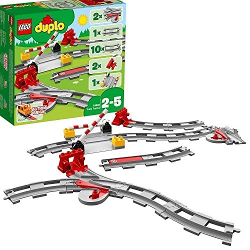 LEGO 10882 DUPLO Eisenbahn Schienen, Bauset m...