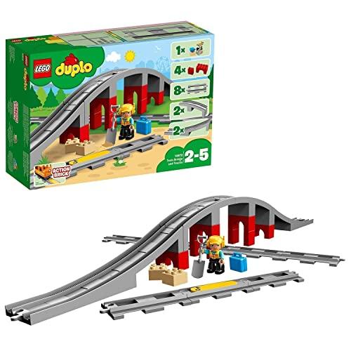 LEGO 10872 DUPLO Eisenbahnbrücke und Schiene...