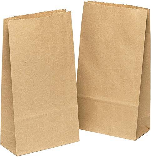 kgpack 100 STK Papiertüten Braun - 9 x 16 x ...