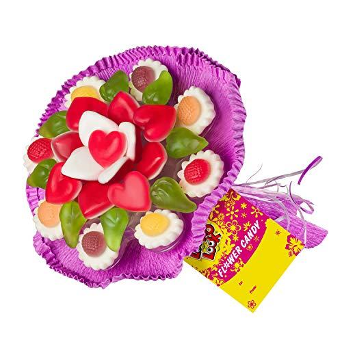 Fruchtgummi Blumenstrauß aus verschiedenen F...