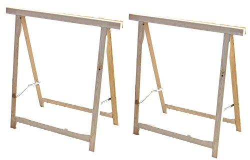2x Holz Klappbock Unterstellbock Gerüstbock ...