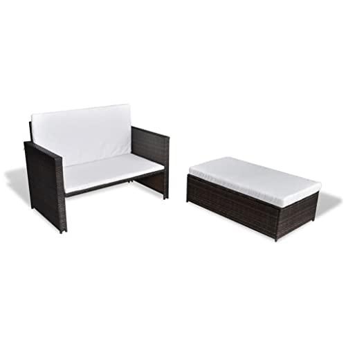 vidaXL Gartensofa Sitzgruppe Sofa Lounge Garn...