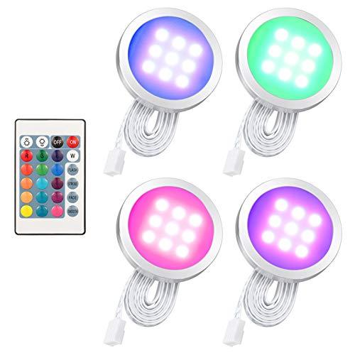 Lixada 4PCS RGB LED Kabinett Licht Installati...