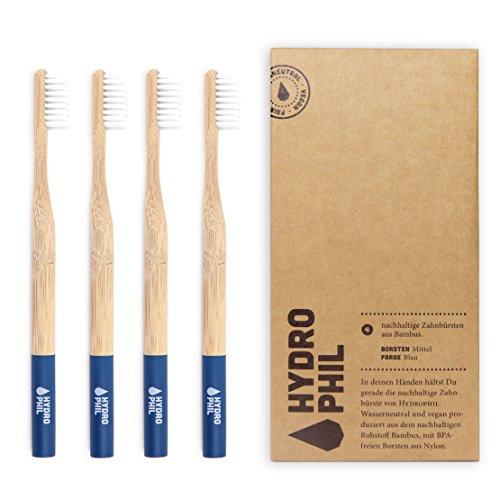 HYDROPHIL nachhaltige Zahnbürste aus Bambus ...