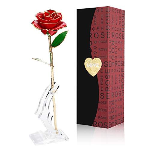 Gomyhom Rose, 24k Gold Rose Handgefertigt Kon...