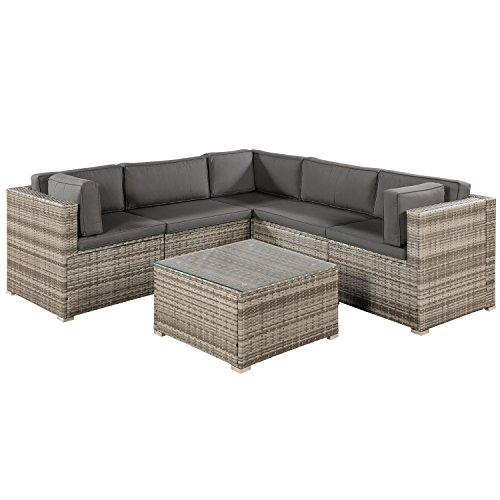 ArtLife Polyrattan Lounge Sitzgruppe Nassau b...