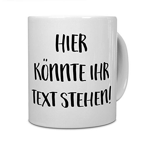 printplanet® - Tasse mit eigenem Text Bedruc...