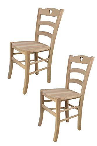Tommychairs - 2er Set Stühle Cuore für Küc...