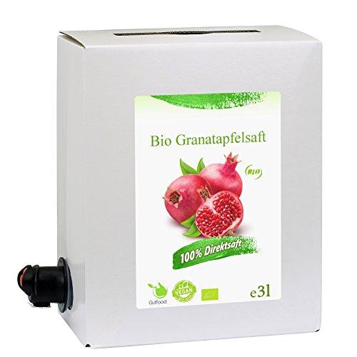GutFood - 3 Liter Bio Granatapfelsaft - Bio G...