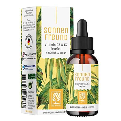 Vitamin D3 K2 Tropfen hochdosiert und vegan -...