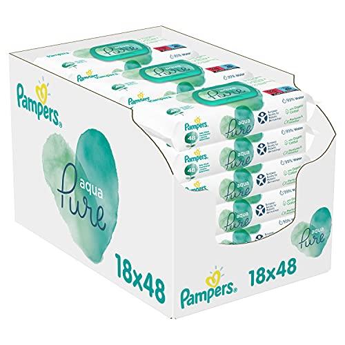 Pampers Aqua Pure Feuchttücher 18 Packungen ...