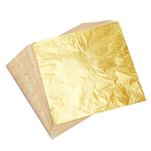 Kuuqa 100 Blatt Blattgold Imitation für Kuns...