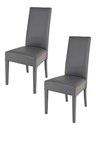 Tommychairs - 2er Set Moderne Stühle Luisa f...