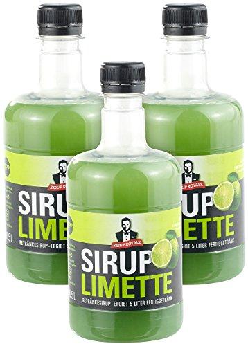 Sirup Royale mit Limetten-Geschmack, 3x 0,5 L...
