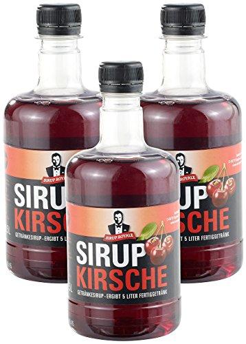 Sirup Royale mit Kirsch-Geschmack, 3x 0,5 Lit...