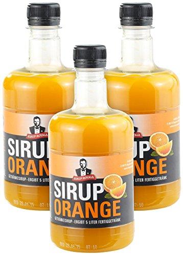 Sirup Royale mit Orange-Geschmack, 3x 0,5 Lit...