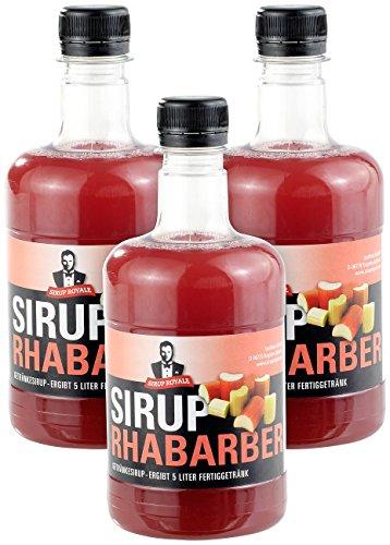 Sirup Royale mit Rhabarber-Geschmack, 3x 0,5 ...