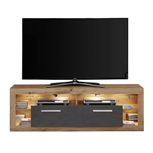 trendteam Wohnzimmer Lowboard Fernsehschrank ...