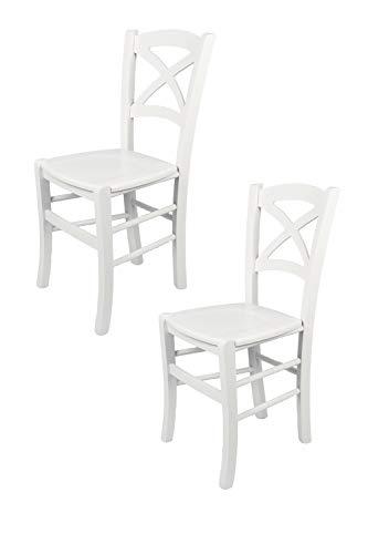 Tommychairs - 2er Set Stühle Cross für Küc...