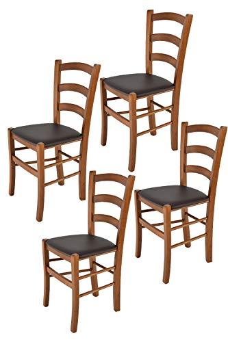 Tommychairs - 4er Set Stühle Venice für Kü...