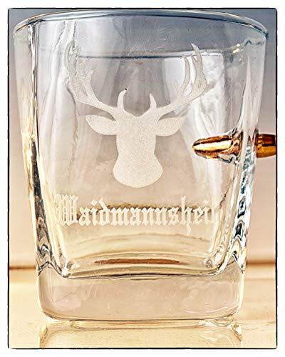 KolbergGlas Jäger Geschenk Glas mit realem G...