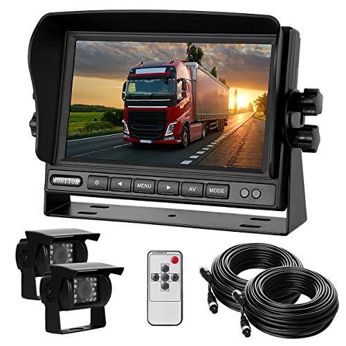 "Dual-Rückfahrkamera-Set mit 7\"" TFT LCD Kfz-..."