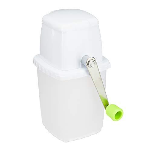 Relaxdays, weiß-grün Eiscrusher manuell, Ei...