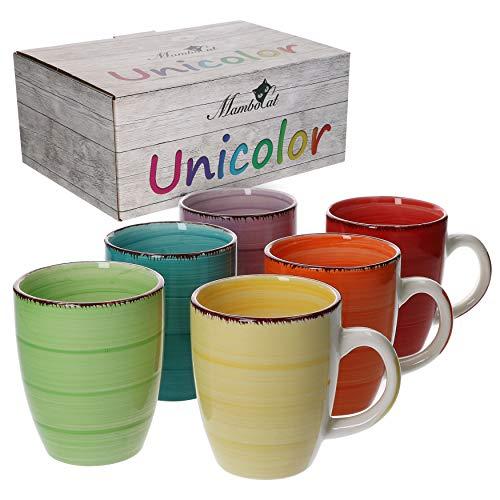 MamboCat 6-TLG. Kaffeebecher-Set Uni bunt Tee...