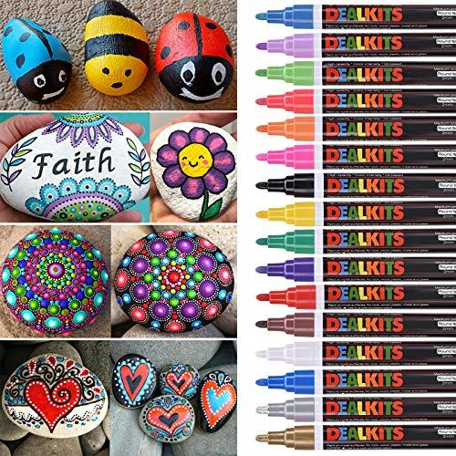 DealKits 16 Farben Wasserfeste Stifte, Perman...