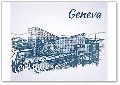 Kühlschrankmagnet Tabak Giant Genf, Schweiz