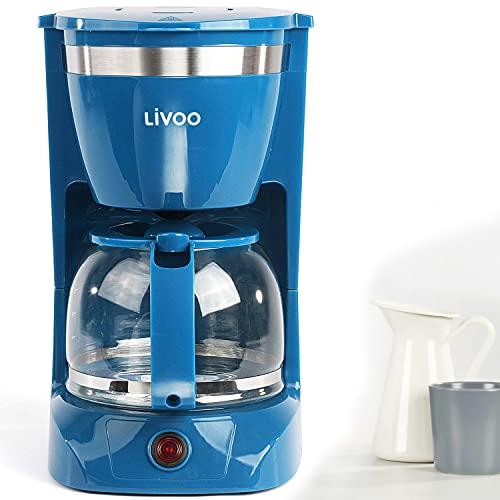 Kaffeemaschine Blau mit Glaskanne für 12 Tas...