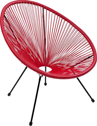 Kare Design Sessel Acapulco Rot, moderner Aca...