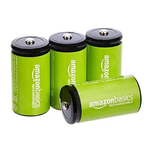 AmazonBasics - C-Zellen, wiederaufladbare Bat...