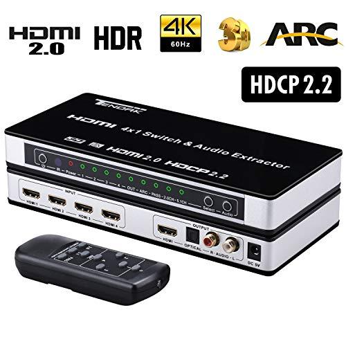 Tendak HDMI 2.0 Switch 4 Port HDMI Umschalter...