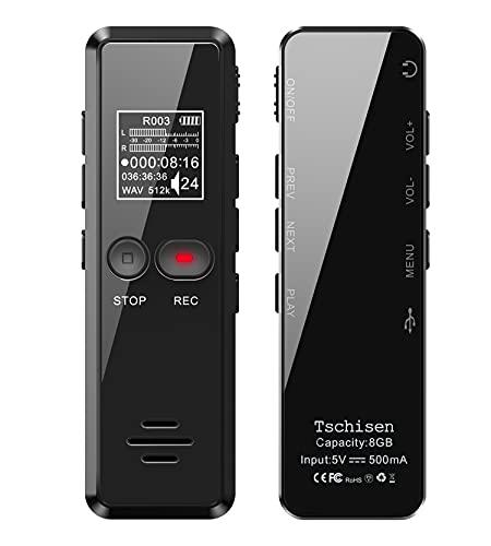 Digitales Diktiergerät, 8GB 1536kbps hohe Au...