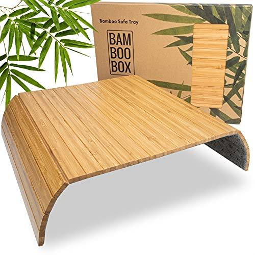 BamBooBox Sofatablett/Sofaablage aus Bambus f...