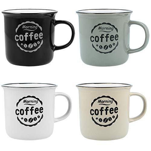 com-four® 4X Kaffeebecher Morning Coffee im ...