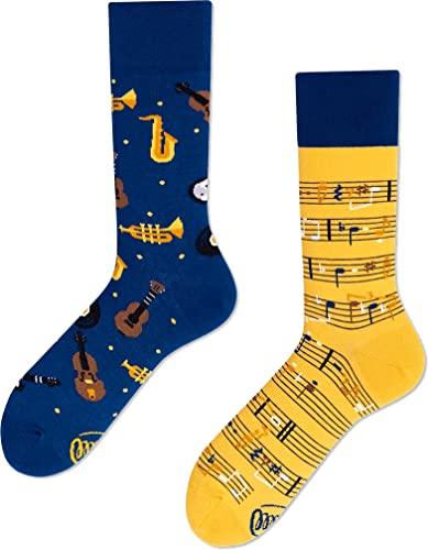 Many Mornings unisex Socken Music Notes (Blau...