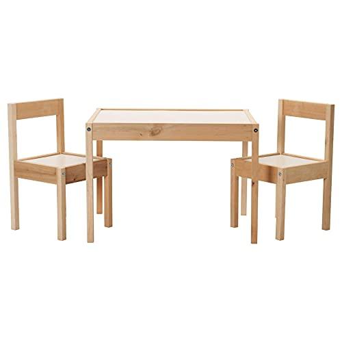 IKEA LATT Kindertisch mit 2 Stühlen, weiß/k...