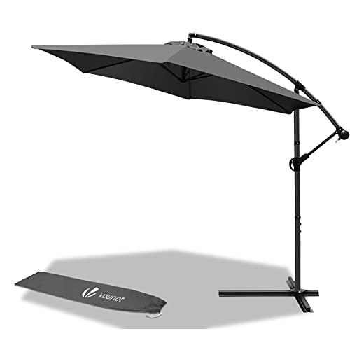 VOUNOT Ampelschirm 300 cm, Sonnenschirm mit K...
