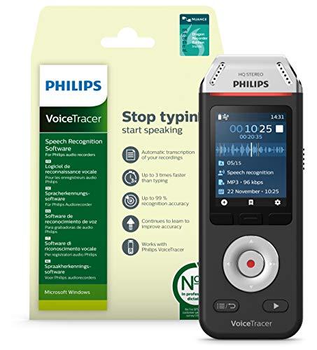Philips Voicetracer Audiorecorder DVT2810 mit...
