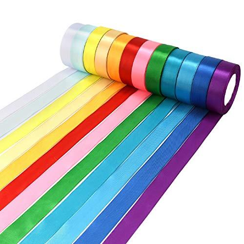 Wtrcsv 12 Farben 22m X (23mm-27mm) Satinband ...