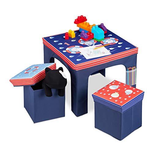 Relaxdays Sitzgruppe Kinder, faltbar, Kindert...