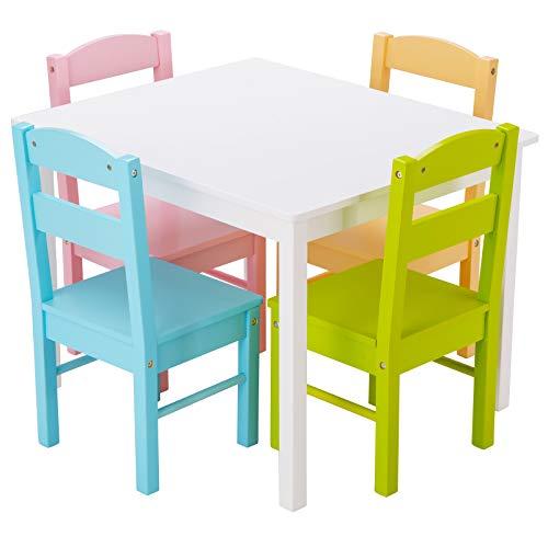 COSTWAY 5 TLG. Kindersitzgruppe, Kindertischg...