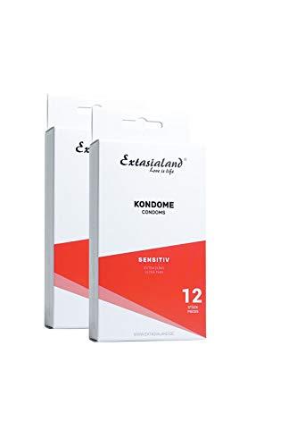 Extasialand 2x 12er Sensitiv Marken-Kondome e...