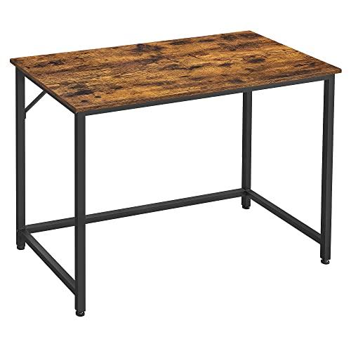VASAGLE Schreibtisch, Computertisch, schmaler...