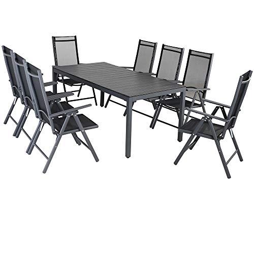 Casaria Aluminium Sitzgruppe 8 Klappstühle H...
