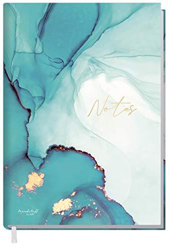 Notizbuch A5 liniert [Smaragd Gold] von Trend...