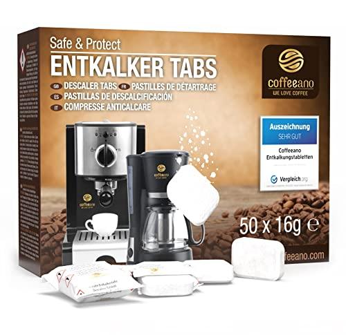 Coffeeano 50x Entkalkungstabletten XL für Ka...